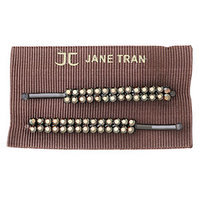 Jane Tran Hair Accessories Double Row Crystal Bobby Pin Set