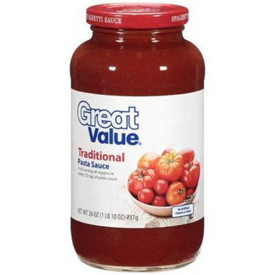 Great Value: Traditional Pasta Sauce, 26 oz