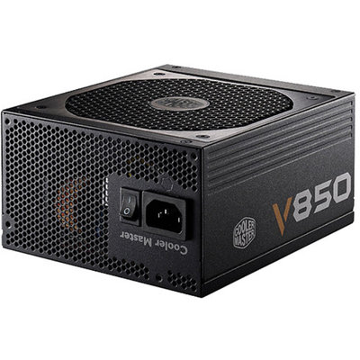 Cooler Master V850 850W Power Supply - 80+ Gold, Silent 135mm Fan, Single 12V Rail, Full Modular Cable Design, 90-264Vac