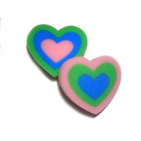 Rilko Kids Heart Shaped Bath Sponges