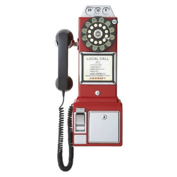 Crosley Radio 1950's Classic Pay Phone Red
