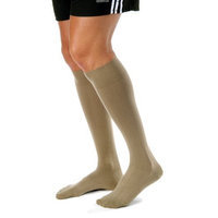 Jobst Men's 30-40 mmHg Extra Firm Casual Knee High Support Sock Size: Small, Color: Khaki