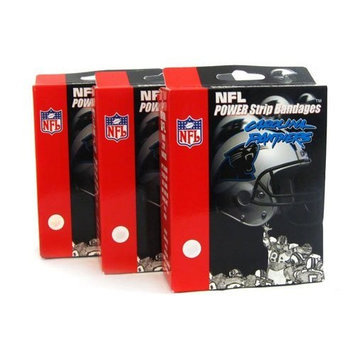 Noble Medical Supply NFL Carolina Panthers Power Strip Bandaid Bandages (Pack of 3)