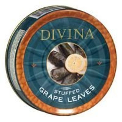Divina Grapeleaves, Stuffed, Dolma, 4.4 # (pack of 6 )