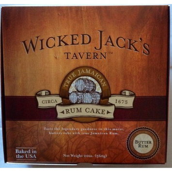 Wicked Jack's Tavern Jamaican Rum Cake, Butter Rum, 20-Ounce Boxes (Pack of 2)