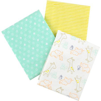 Child of Mine by Carter's Newborn Baby, Neutral 3-Pack Flannel Receiving Blankets
