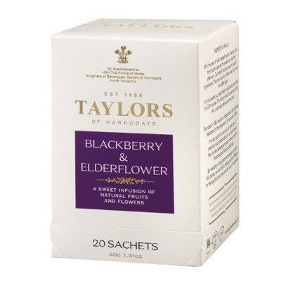 Taylors of Harrogate, Blackberry and Elderflower Infusion, 20 Count Wrapped Tea Bag 1.41 Oz.