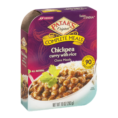 Patak's Original Complete Meals Chickpea Curry with Rice Chana Masala