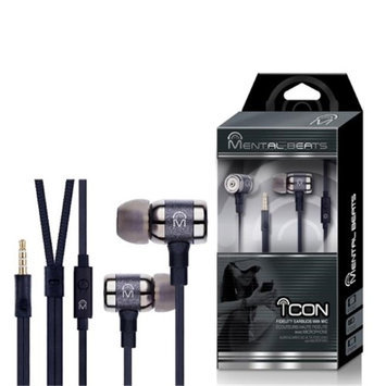 Mental Beats ICON High Quality Earbuds with 4' FT Tangle Free Cable with Mic