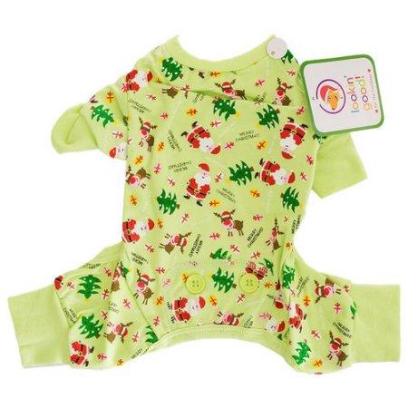 Fashion Pet Lookin' Good Holiday Dog Pajamas - Green: X-Small - (Fits