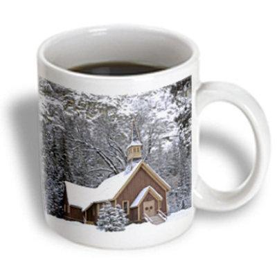 Recaro North 3dRose - Danita Delimont - Churches - California, Yosemite Valley Chapel, Winter - US05 GRE0004 - Gerry Reynolds - 11 oz mug
