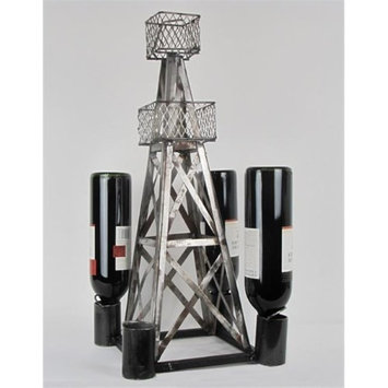 Metrotex Designs 26558 Steel Handmade Oil Derrick Wine Rack