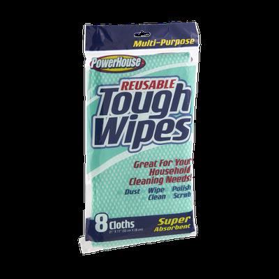 PowerHouse Multi-Purpose Reusable Tough Wipes - 8 CT