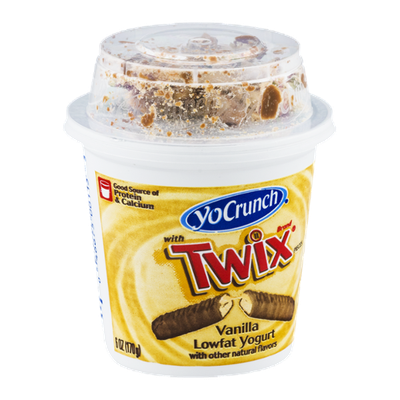 YoCrunch with Twix Vanilla Lowfat Yogurt