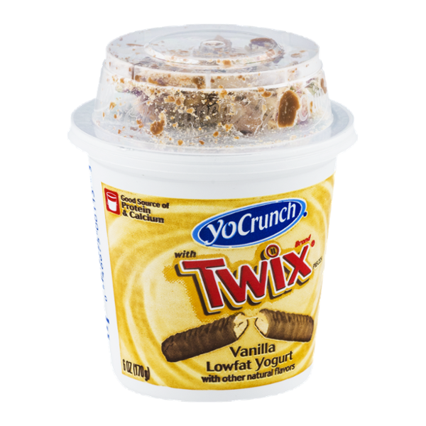 YoCrunch with Twix Vanilla Lowfat Yogurt