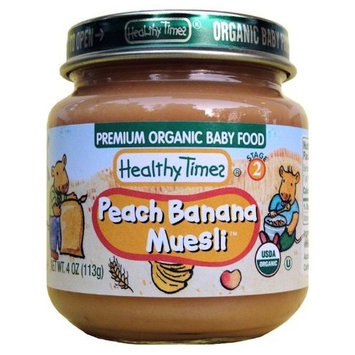 Healthy Times Organic Baby Food, Peach Banana Muesli, 4-Ounce Jars (Pack of 12)