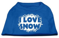 Ahi I Love Snow Screenprint Shirts Blue Lg (14)
