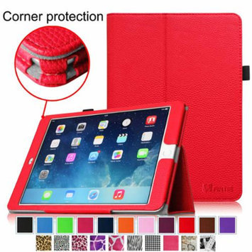 iPad Air 2 Case [Corner Protection] - Fintie Slim Fit Leather Folio Case with Auto Sleep / Wake Feature, Red