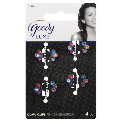 Goody Products Inc. Luxe Baby Butterflies Claw Clip, 4 CT