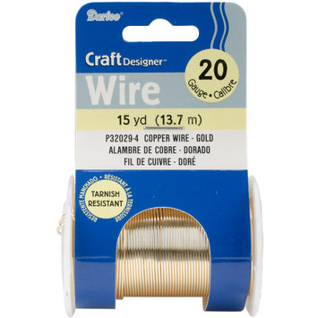 Darice Inc Darice P32029-4 Beading Wire 20 Gauge 15yd/Pkg-Gold Colored Copper Wire