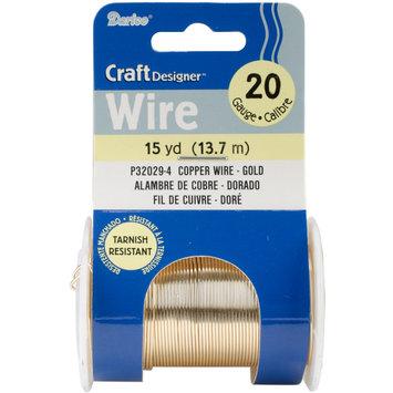 Darice Inc Darice P32029-4 Beading Wire 20 Gauge 15yd/Pkg-Gold Colored Copper Wire