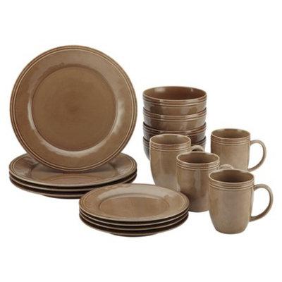 Rachael Ray Cucina 16 Piece Dinnerware Set - Brown