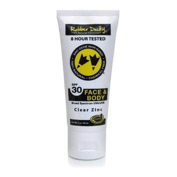 Rubber Ducky 100 Percent Natural Sunscreen SPF 30 Face & Body 3.3 oz. Tube