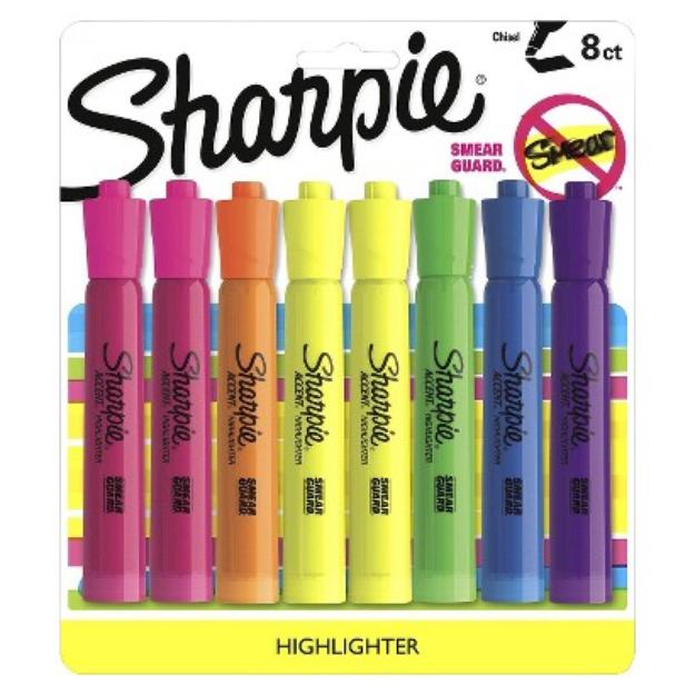 Sanford Sharpie 8ct Asst. Highlighter Marker