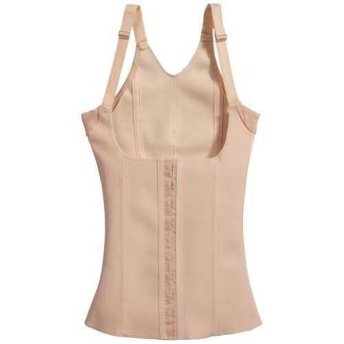 Squeem #26J Cotton and Rubber Vest - Compression Bodyshaper Nude (5X)