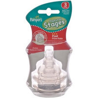 Pampers Silicone Airwave Aspirational Nipples, Stage 3, Twin Pack, Clear