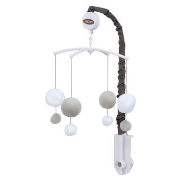 Bacati Dots Musical Mobile Color: Grey/White