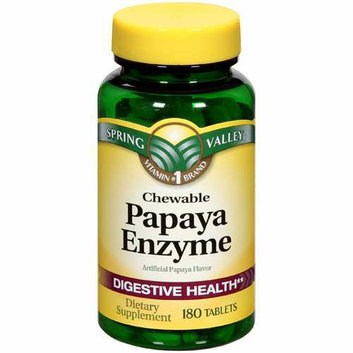 Spring Valley : Papaya Enzyme Digestive Health Dietary Supplement