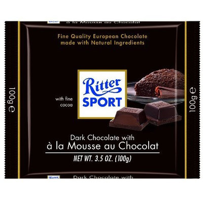 Ritter Sport Bars Dark Chocolate Mousse