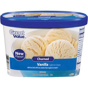 Great Value Churned Vanilla Light Ice Cream, 48 fl oz