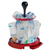 The First Years Red Spinning Drying Rack Organizer