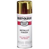 Rustoleum Rust-Oleum 7710830 Bright Coat Metallic Color Spray, Gold, 11-Ounce [G