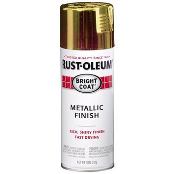 Rustoleum Rust-Oleum 7710830 Bright Coat Metallic Color Spray, Gold, 11-Ounce [G