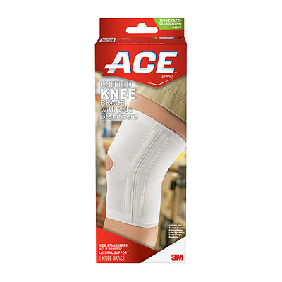 ACE Knitted Knee Brace w/Side Stabilizers 207355