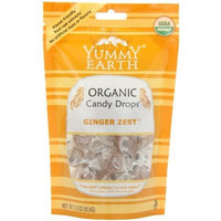 Yummyearth YumEarth Organic Ginger Zest Drops, 3.3 Ounce Pouches (Pack of 6)