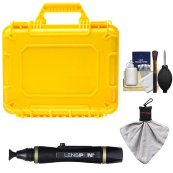 Precision Design PD-WPC Waterproof Hard Case with Custom Foam with Lenspen + Accessory Kit for HD Digital SLR Cameras & Video Camcorders