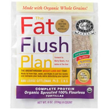 French Meadow Bakery - Fat Flush Tortilla - 6 inch - Organic, Whole Grains & Sprouted (Delicious Carb Conscious / Hypoallergenic / Vegetarian Option), Buy TWELVE Packages and SAVE, Each Package is 8 oz (Pack of 12)