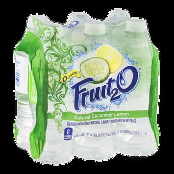 Fruit2O Flavored Water Beverage Natural Cucumber Lemon - 6 CT