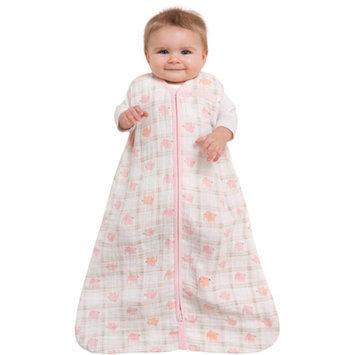 Halo HALO SleepSack Wearable Cotton Blanket, Pink Elephant