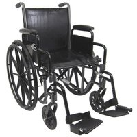 Karman 16 inch Steel Wheelchair with Removable Arms and Height Adjustable Seat
