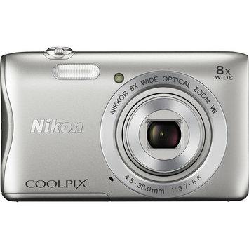 Nikon - Coolpix S3700 20.1-Megapixel Digital Camera - Silver