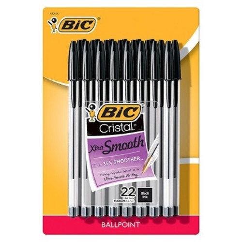 BIC® Cristal® Xtra Smooth Ballpoint Pens, 1.2mm