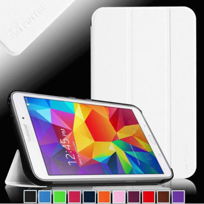 Fintie Smart Shell Case Ultra Slim Lightweight Stand Cover for Samsung Galaxy Tab 4 8.0 inch Tablet, White