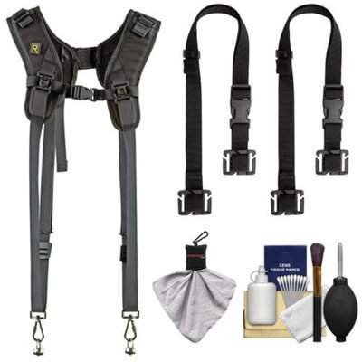 BlackRapid RS DR-1 Sling Double Camera Strap with (2) BlackRapid BRAD MODs + Cleaning & Accessory Kit