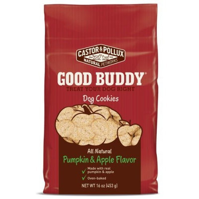 Castor & Pollux Good Buddy Pumpkin and Apple Flavored Dog Cookies, 16 Ounce Bags (Pack of 8)
