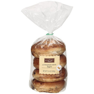 The Bakery At Walmart Cinnamon Raisin Bagels, 4ct